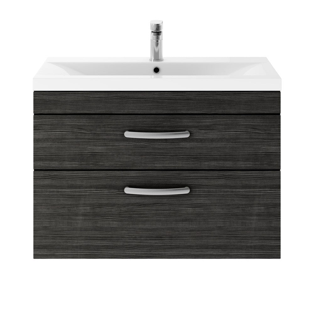 Athena 2 Drawer 800mm Wall Hung Vanity Unit & Basin