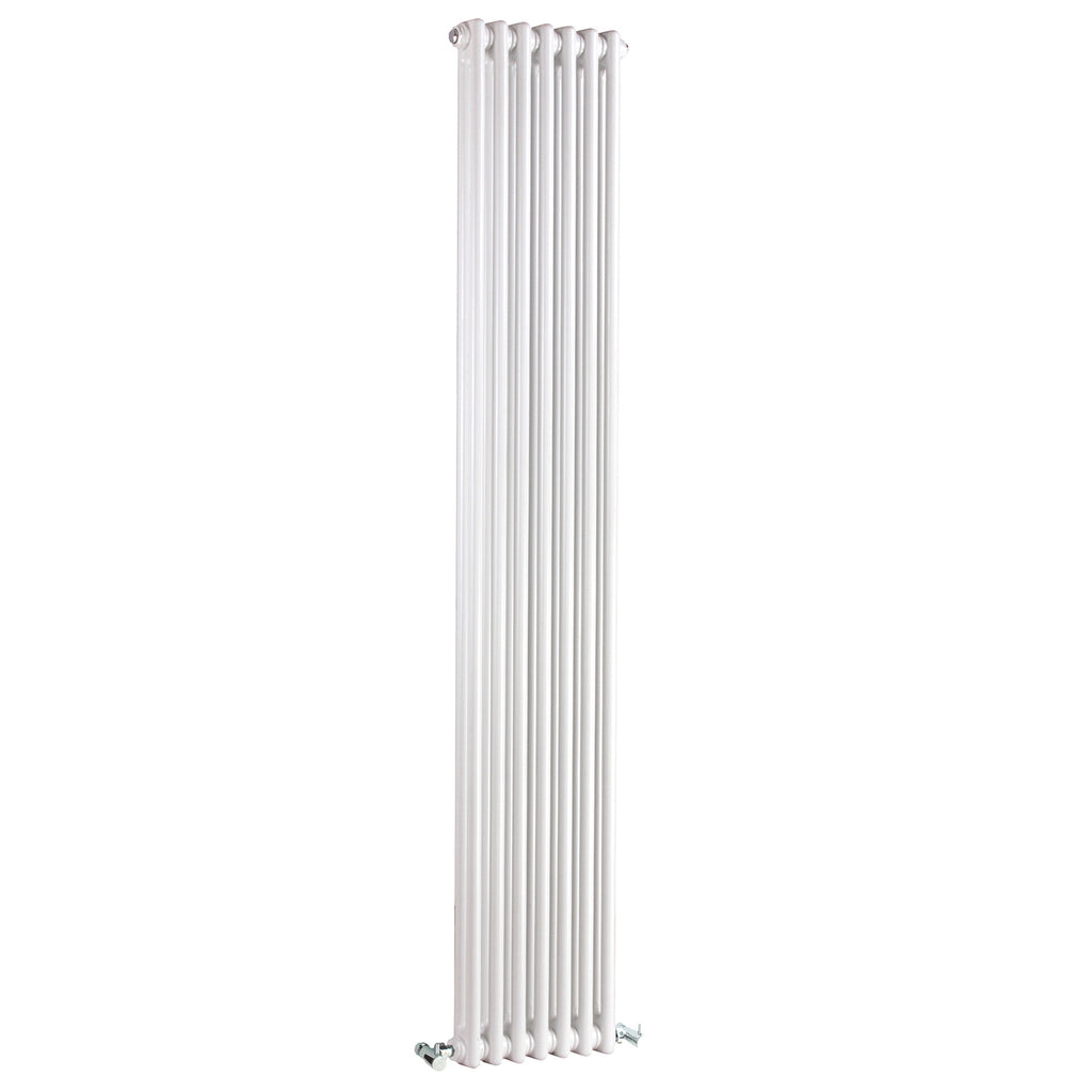 Vertical Double Column High Gloss White Colosseum Radiator