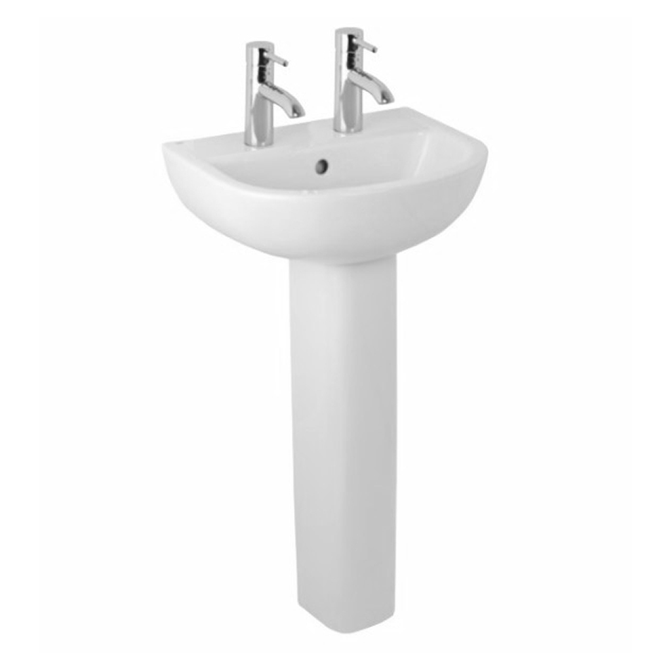 Compact 460mm Basin & Full Pedestal