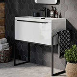 Mono Wall Hung 2 Drawer Vanity Unit & Basin