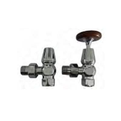 Tradiational Chrome Radiator Valves Pack