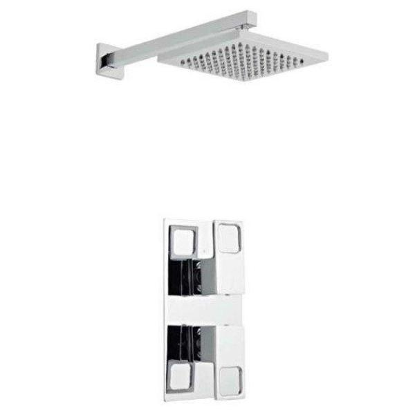 Kourt Concealed Thermostatic Shower with Fixed Overhead Drencher