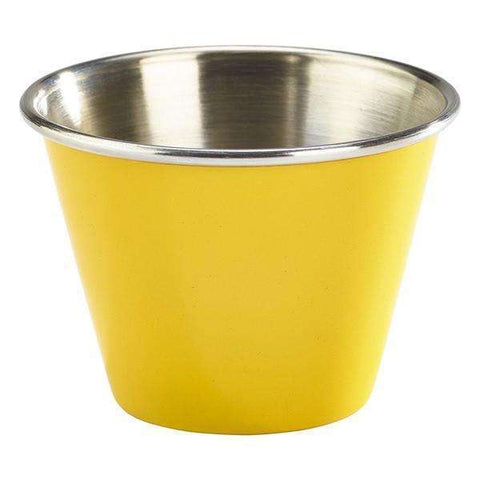 2.5oz Stainless Steel Ramekin Yellow