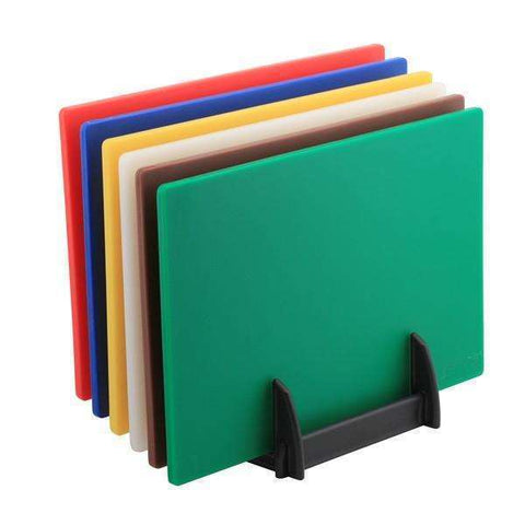 6 Colour (1 of Each) HD Chopping Board + Rack