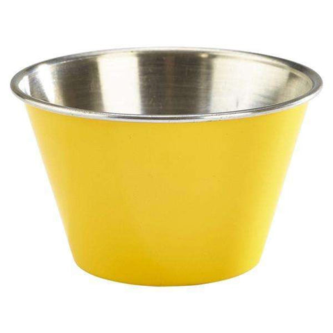 6oz Stainless Steel Ramekin Yellow