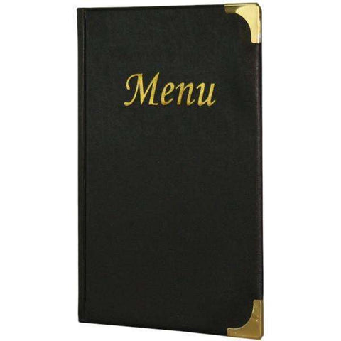 A5 Menu Holder Black 8 Pages
