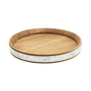 Acacia Wood Zinc Banded Serving Board 24cm