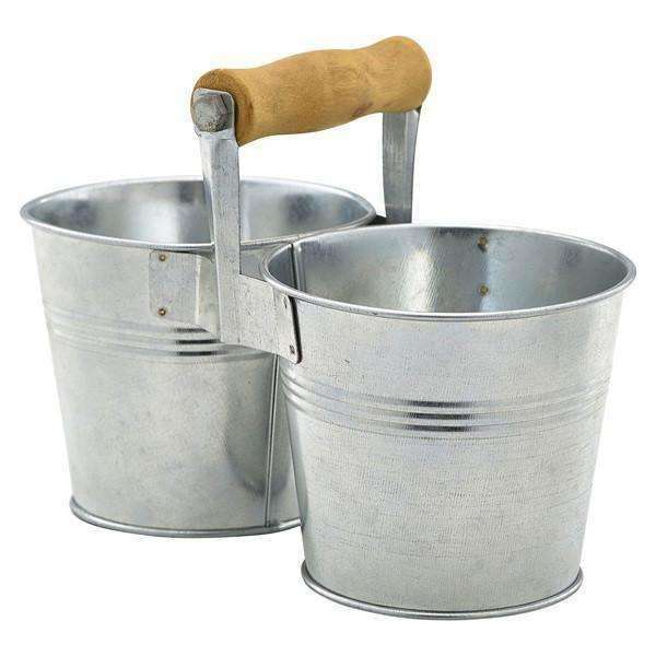 Galvanised Steel Combi Serving Buckets 10cm Ø