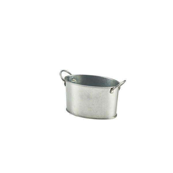 Galvanised Steel Serving Bucket 12.5 x 8.5 x 6.5cm