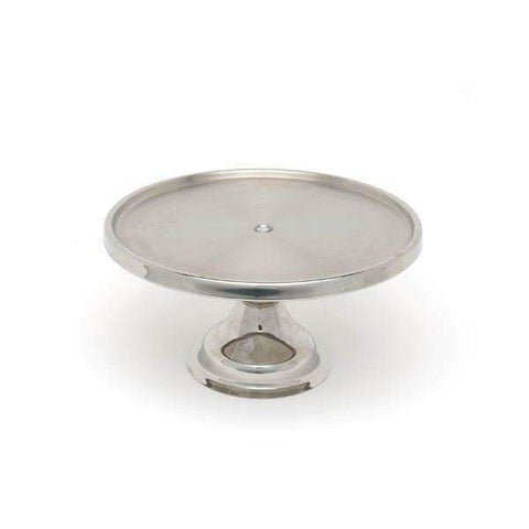 "Genware S/St. Cake Stand 13""Dia.6.5"" High"
