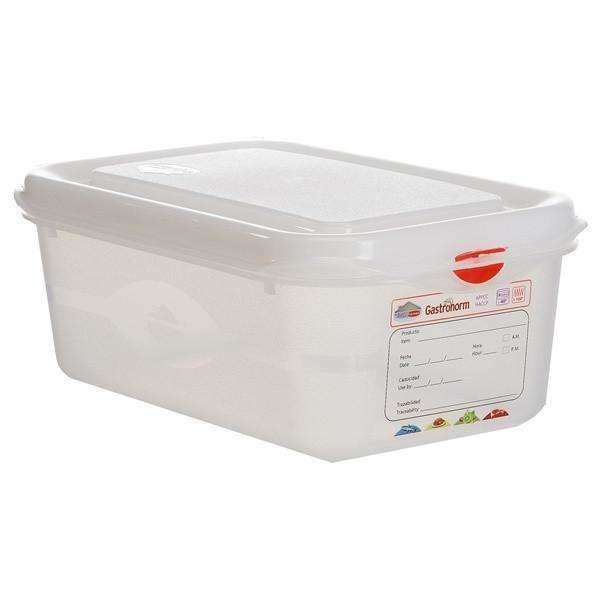GN Storage Container 1/4 100mm Deep 2.8L