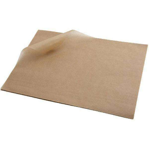 Greaseproof Paper Brown 25 x 20cm
