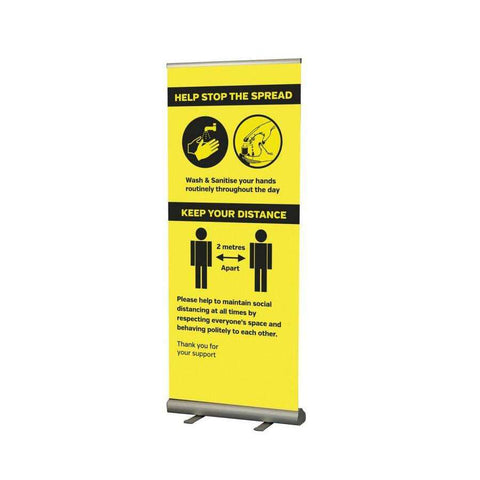 Help stop the spread Roller Banner