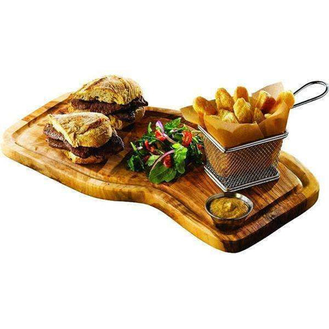 Olive Wood Serving Board W/ Groove 40X21cm+/-