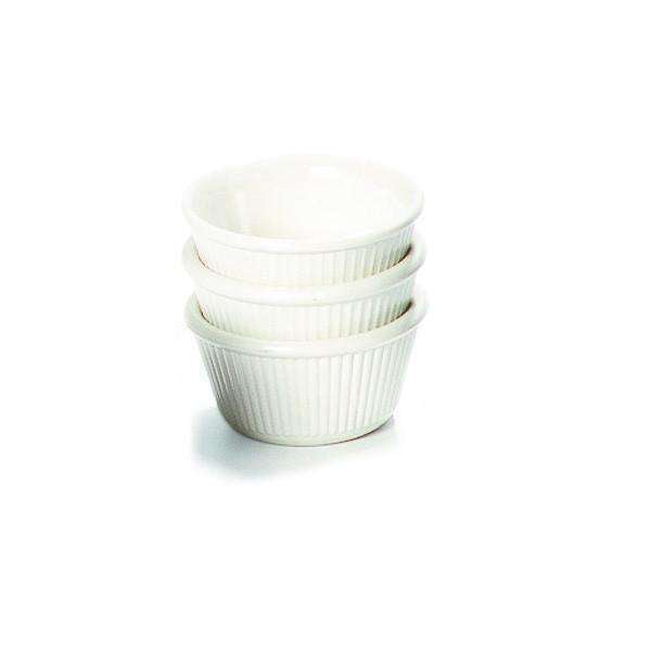 Ramekin 4oz Fluted White 86X36mm