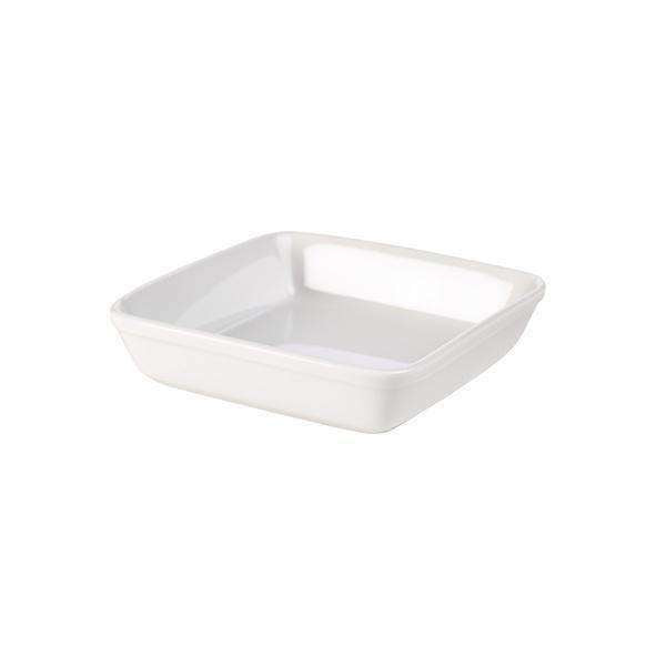 Royal Genware Square Roaster 23cm White