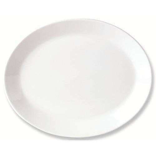 Simplicity White Oval Coupe Plate 20.25Cm 8