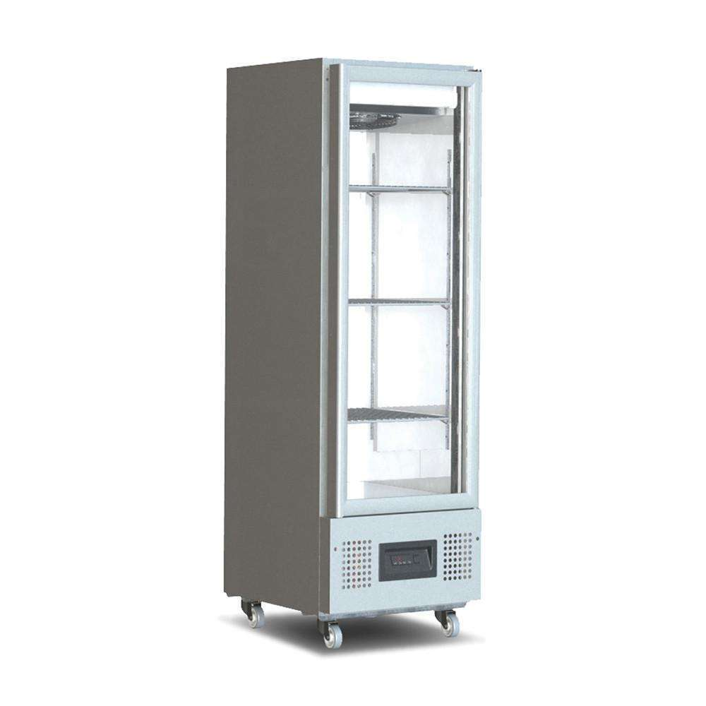 Slimline 400 Litre Upright Glass Door Refrigerated Cabinet