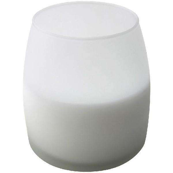 Soft Glow Glass Candle White 45H (6Pcs)