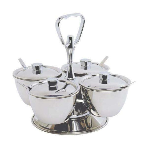 S/St.Revolving Relish Server 3-Way (62399) **