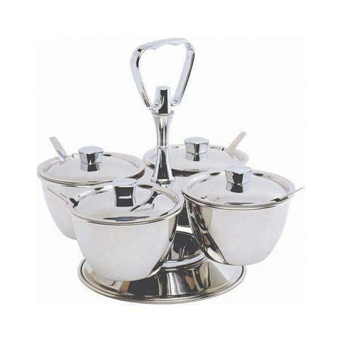 S/St.Revolving Relish Server 4-Way (66277)