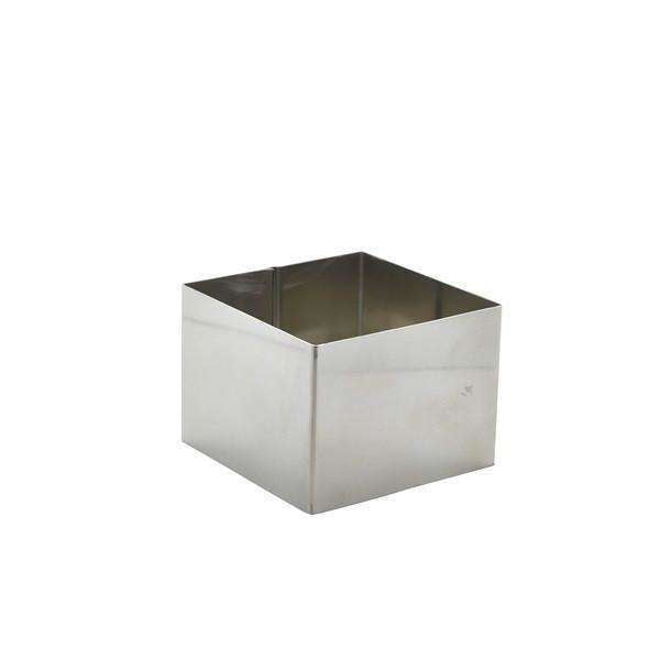 Stainless Steel Square Mousse Ring 8x6cm