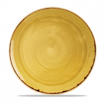 Stonecast Mustard Coupe Plate 32.4cm 12 3/4""