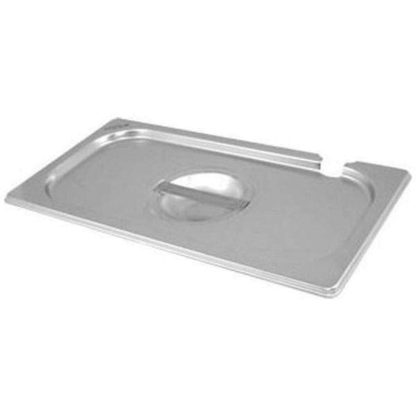 St/St Gastronorm Pan Notched Lid 1/4