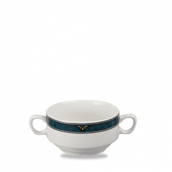 "Verona Consomme Bowl (With Handles) 11.5cm 4 1/2"" 40cl 14oz"