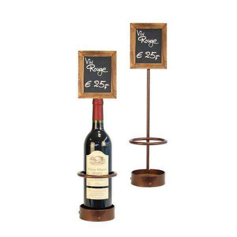 Wine Bottle x1 Chalk Board Display 45 x 10.5cm