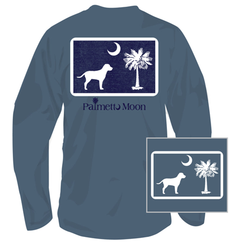 Dog Pledge Moon Long Sleeve T-Shirt