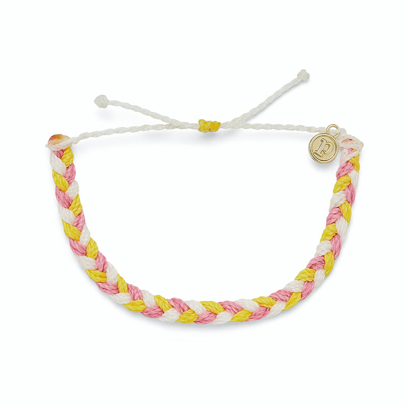 Strawberry Lemonade Braided Bracelet
