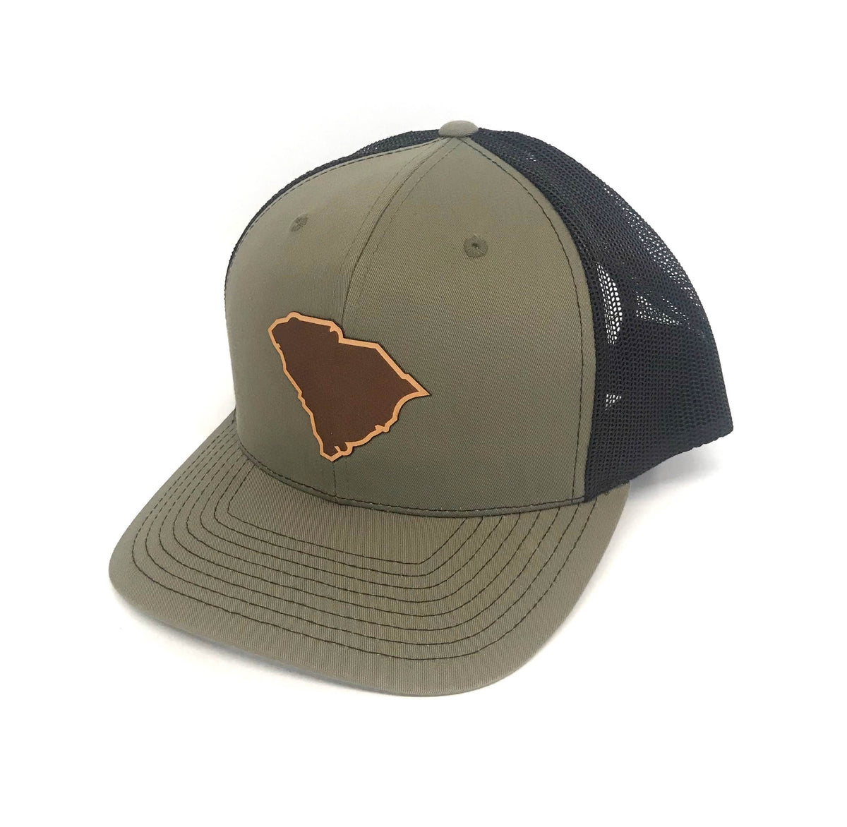 SC Leather State Outline Hat