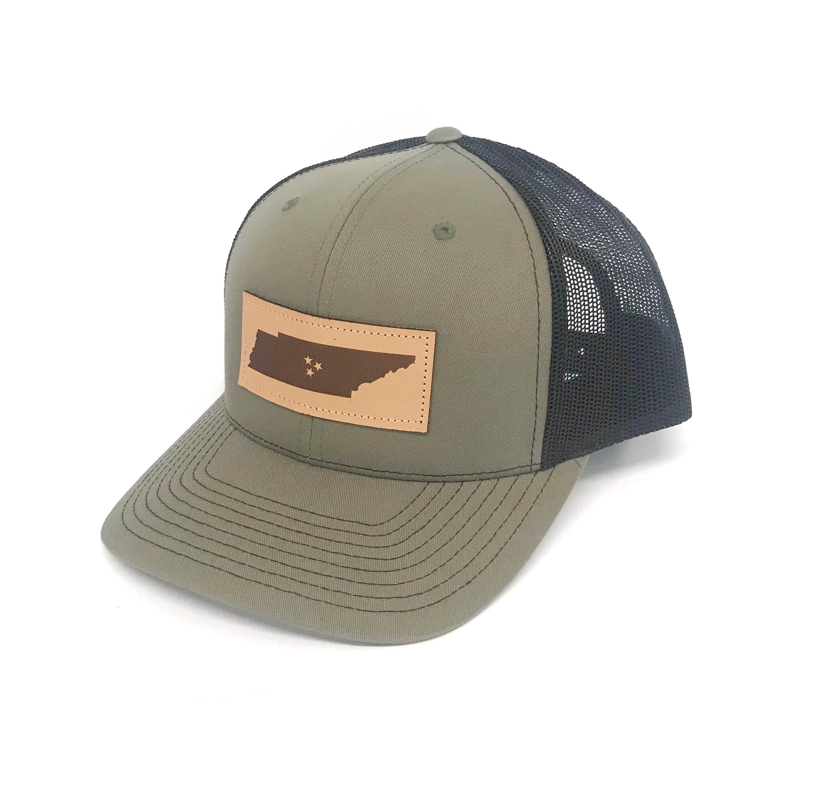 b2b74597d8f Tennessee Square Leather Patch Hat