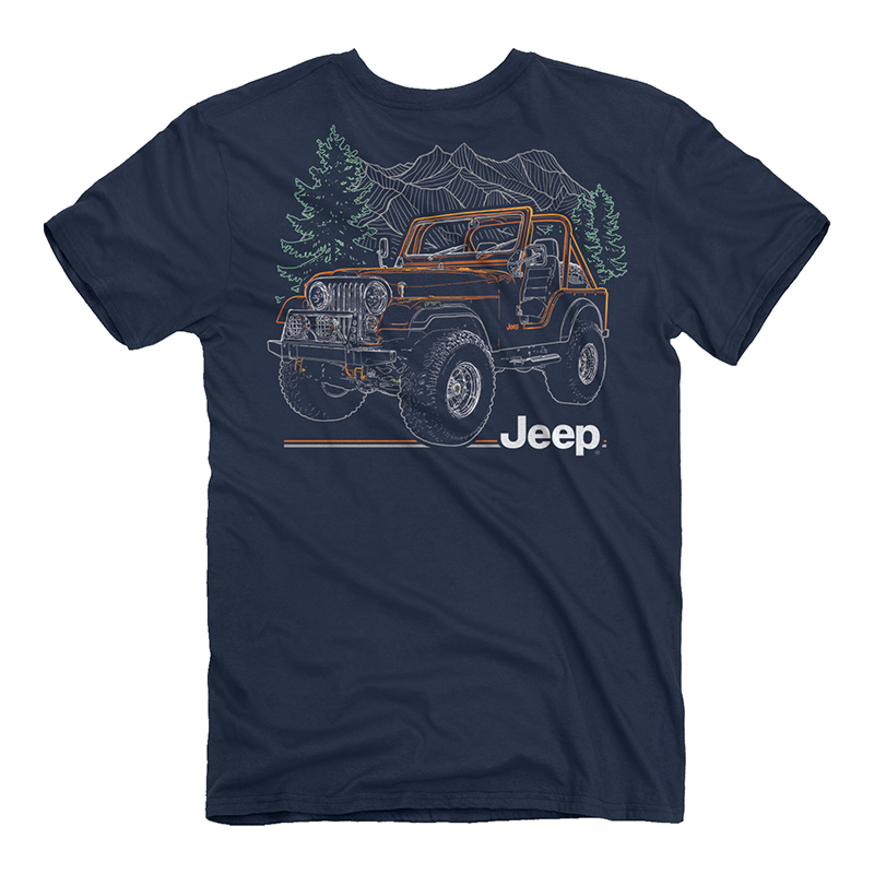 Jeep Line Drive Short Sleeve T-Shirt