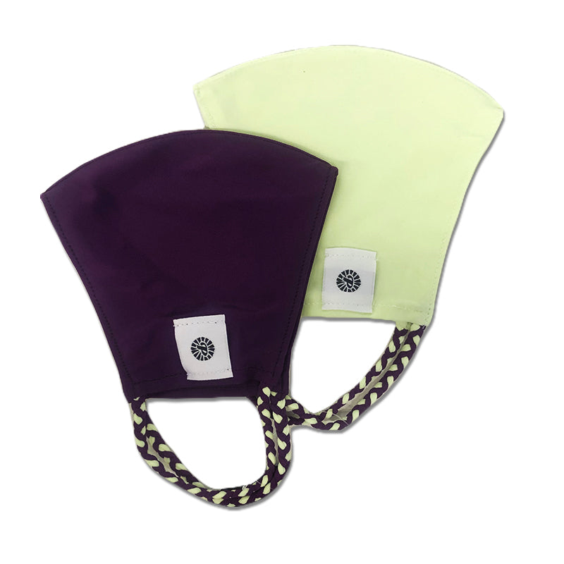 Pale Green and Blackberry Two-Pack Pom Face Mask