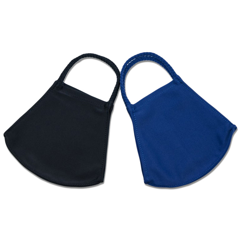 Navy and Black Two-Pack Pom Face Mask
