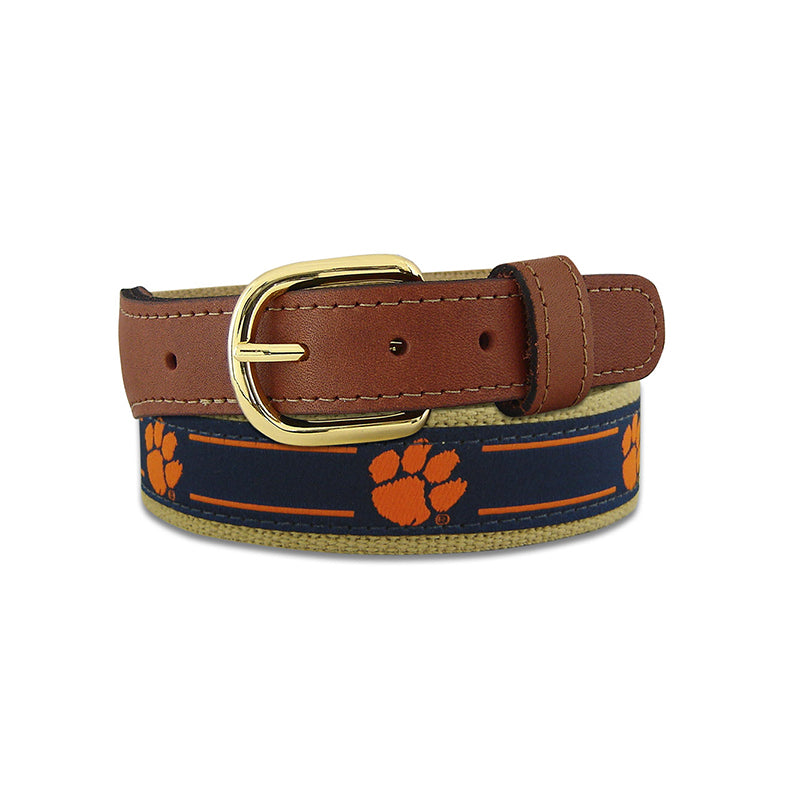 Clemson Ribbon Belt
