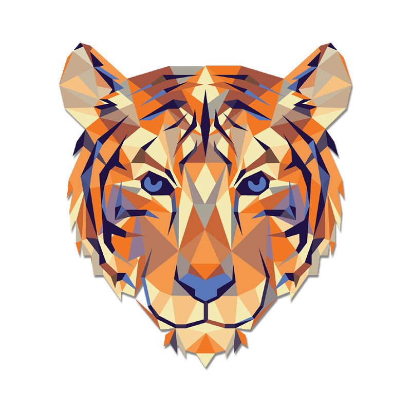 Clemson Geometric Tiger Decal