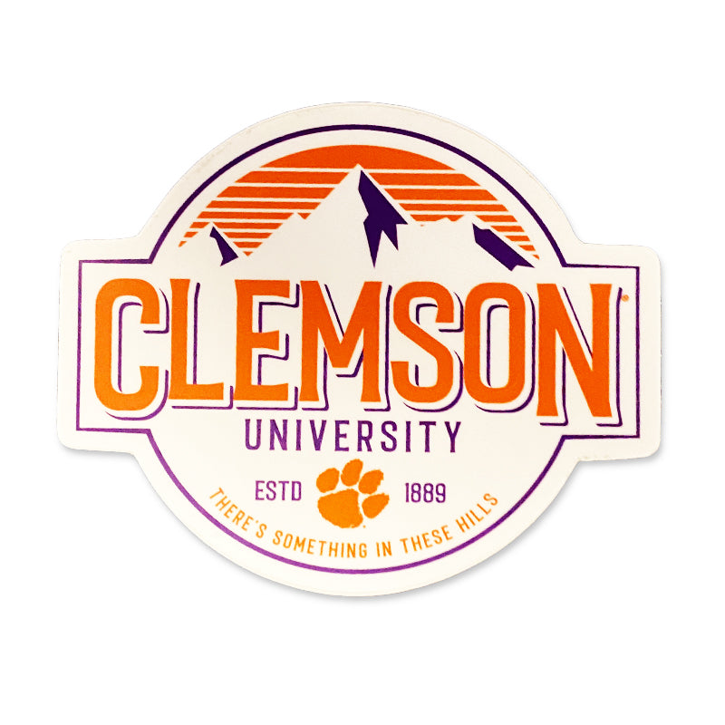 Clemson Mountain Mural Decal
