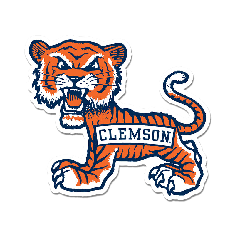 Clemson Old School Tiger Decal