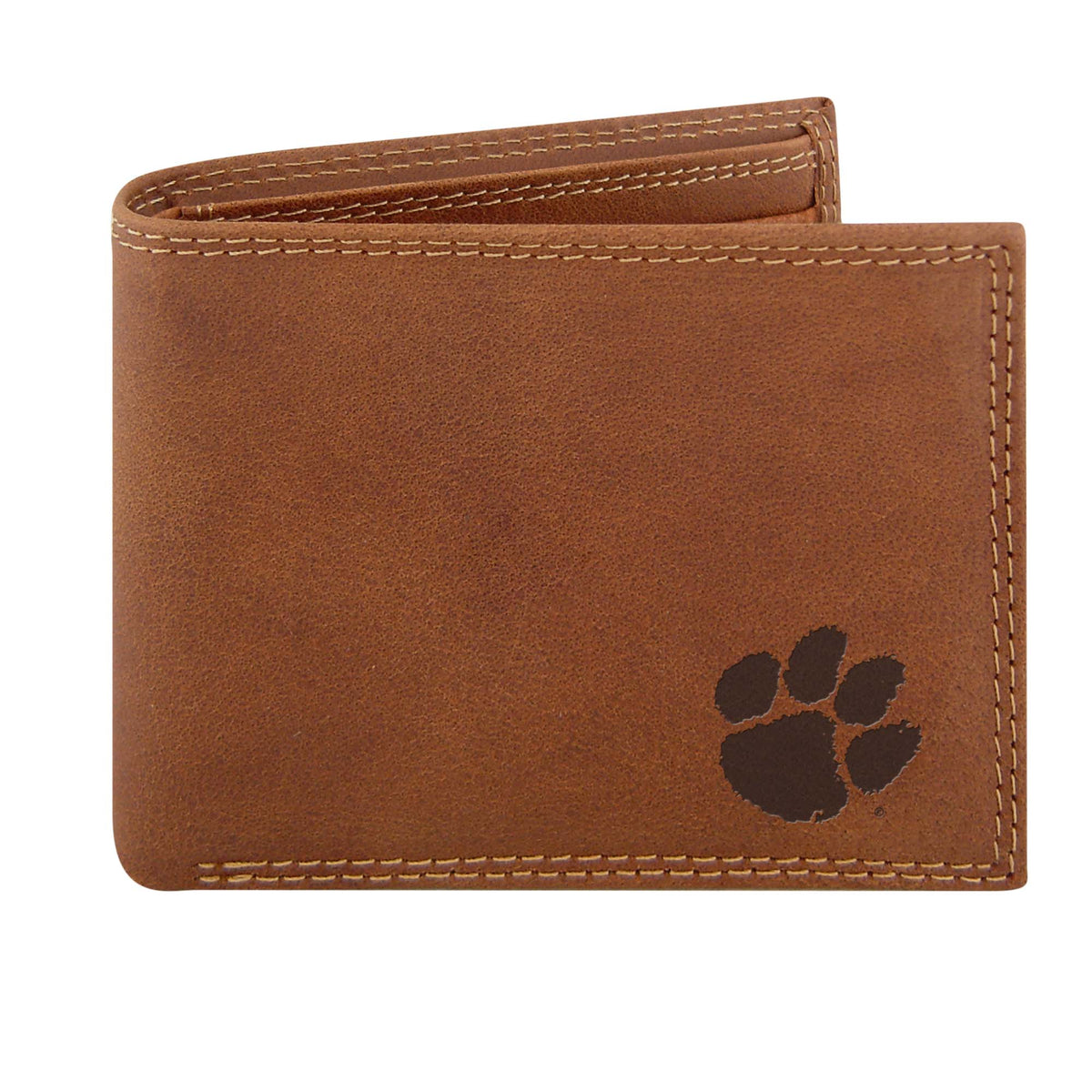 Clemson Embossed Leather Bifold