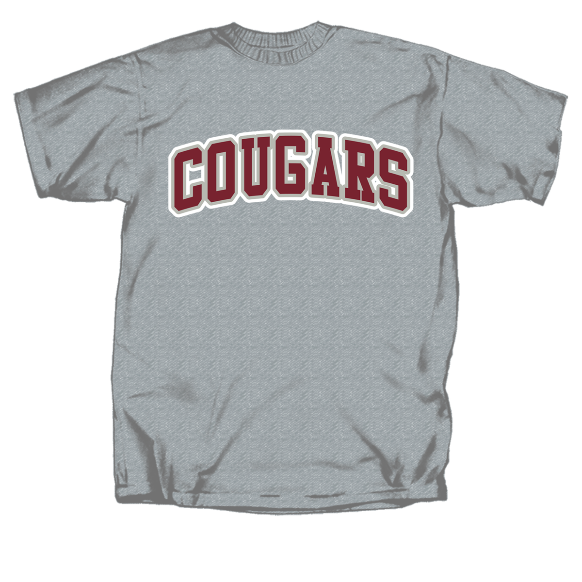 College of Charleston 2 Color Cougar Arch Short Sleeve T-Shirt
