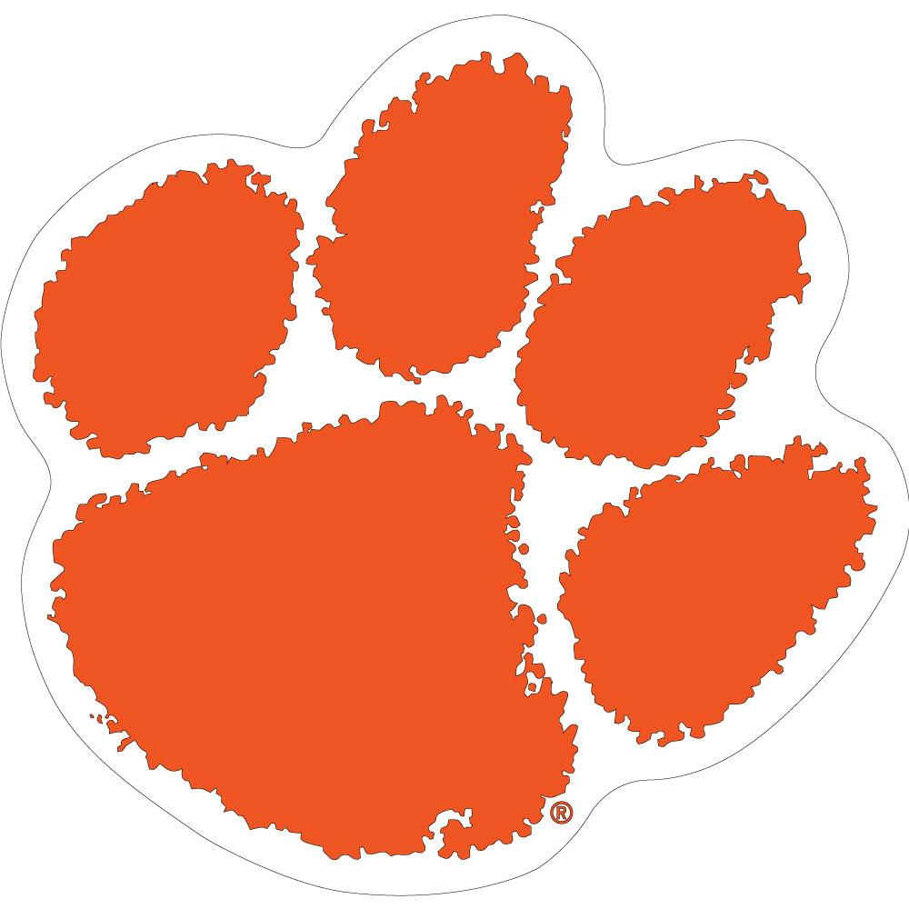 "Clemson Mini 2"" Paw Decal"