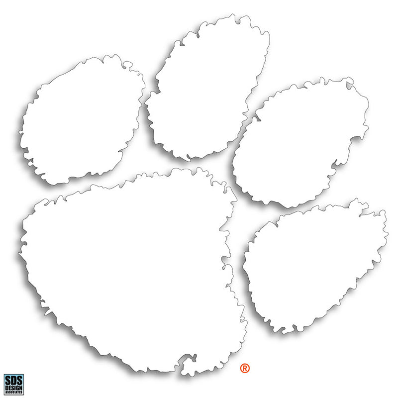 "Clemson 6"" Paw Decal"