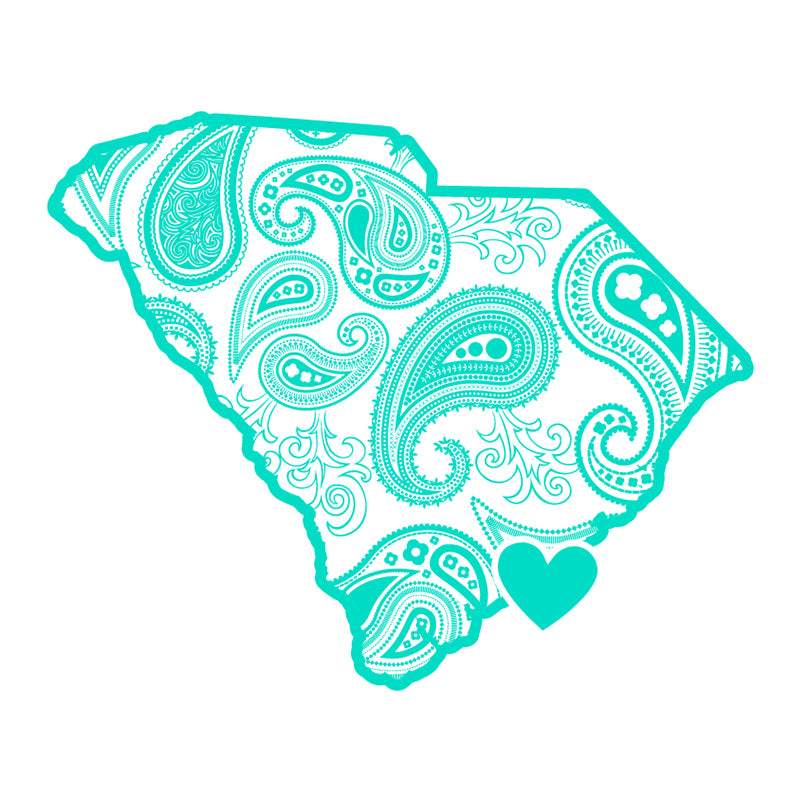 "SC Paisley State 3"" Decal"
