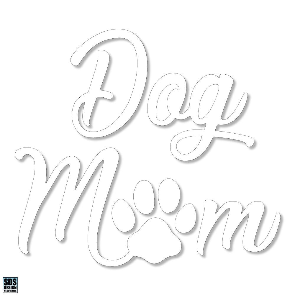 "Dog Mom 6"" Decal"