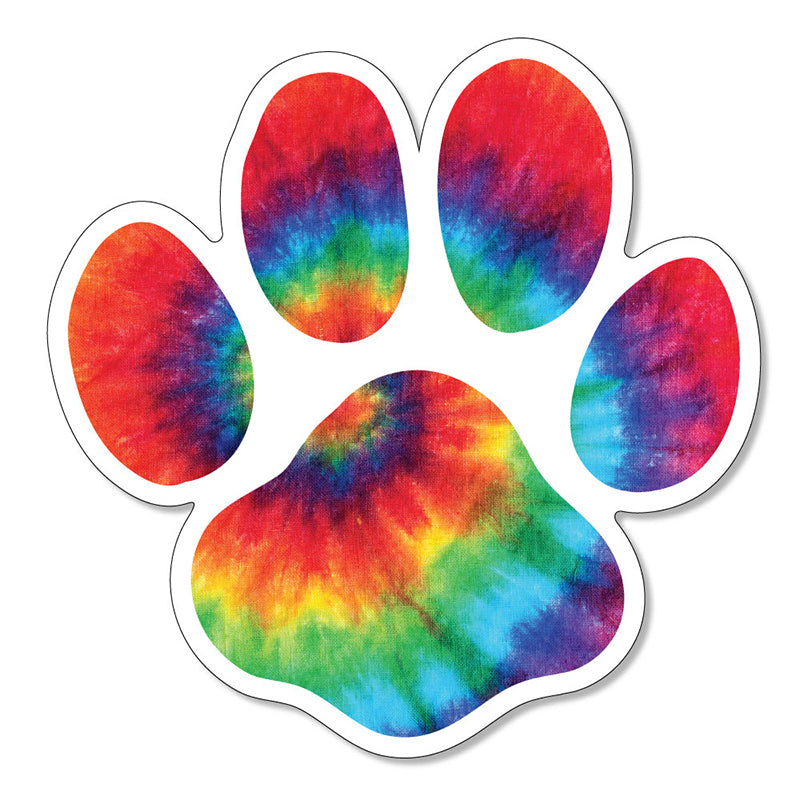 "Tie-Dye Puppy Paw 3"" Vinyl Decal"