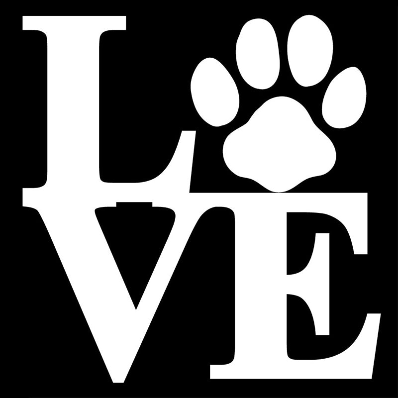 "Love Paw 3"" Vinyl Decal"