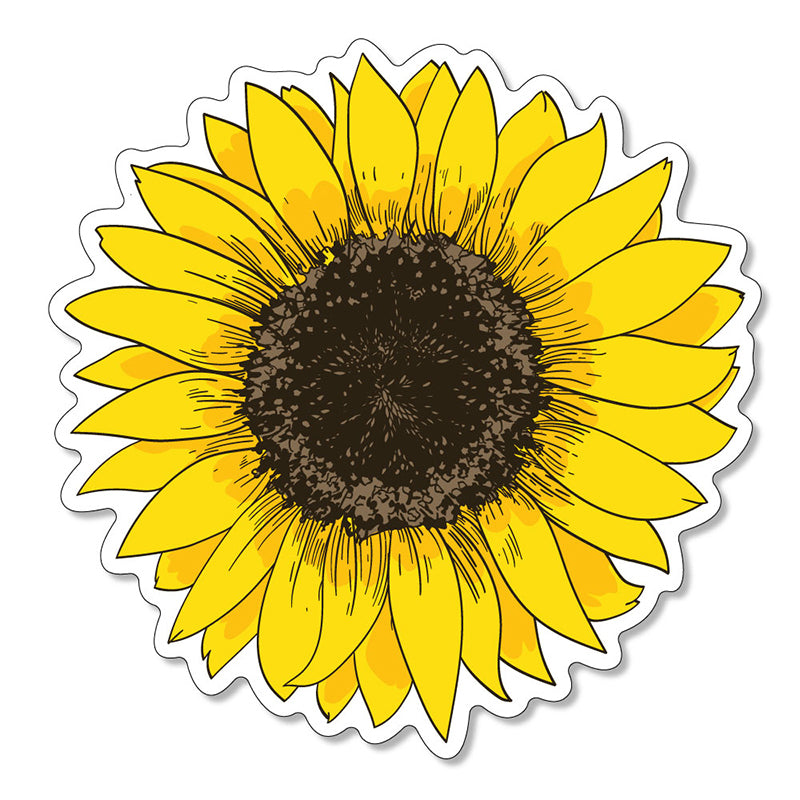 "Sunflower 3"" Vinyl Decal"
